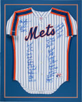 Baseball Collectibles:Uniforms, 1986 New York Mets Team Signed Jersey from The Gary Carter Collection....