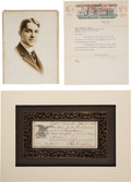 Baseball Collectibles:Others, 1914 Charles Weeghman Signed Promissory Note--Builder of Wrigley Field....
