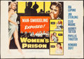 "Movie Posters:Bad Girl, Women's Prison (Columbia, 1955). Trimmed Half Sheet (19.25"" X27.75""). Bad Girl.. ..."