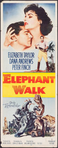 "Movie Posters:Adventure, Elephant Walk (Paramount, 1954). Insert (14"" X 36""). Adventure....."