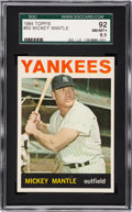 Baseball Cards:Singles (1960-1969), 1964 Topps Mickey Mantle #50 SGC 92 NM/MT+ 8.5....