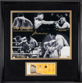 Boxing Collectibles:Memorabilia, 1990's Muhammad Ali Signed Poster & 1960 Rome Summer Olympics Boxing Full Ticket.. ...