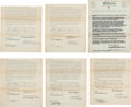 Golf Collectibles:Autographs, 1930's Wilson Golf Endorsement Contracts with PGA Professionals Lotof 7....