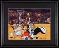 Basketball Collectibles:Others, 1993 Michael Jordan Signed Space Jam Animation Cel. ...