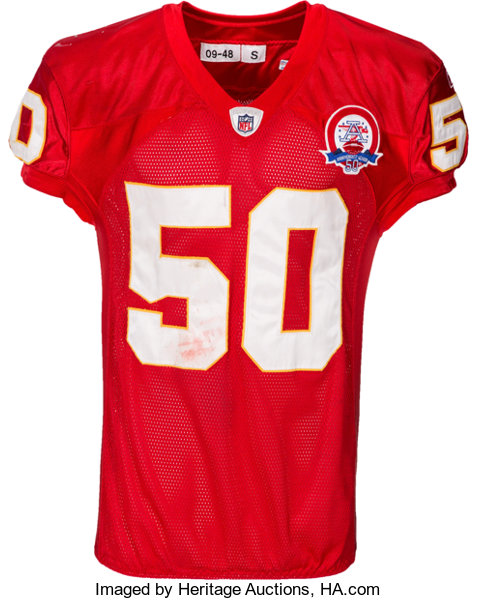 bd777cc3dde ... Football Collectibles:Uniforms, 2009 Mike Vrabel Game Worn, Unwashed  Jersey - Used 10 ...