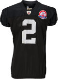 Football Collectibles:Uniforms, 2009 JaMarcus Russell Game Worn, Unwashed Oakland Raiders Jersey....