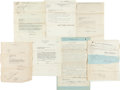 Golf Collectibles:Autographs, 1914-37 Legal Golf Patent Assignments to Wilson Lot of 7.. ...