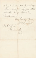 Autographs:U.S. Presidents, James Garfield Letter Signed as President-Elect....