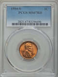 Lincoln Cents: , 1954-S 1C MS67 Red PCGS. PCGS Population: (278/0). NGC Census: (783/0). Mintage 96,190,000. ...