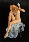 Pin-up and Glamour Art, Haddon Hubbard Sundblom (American, 1899-1976). Reflections ofMe, Colson Calendar illustration, circa 1940s. Oil on canv...(Total: 2 Items)