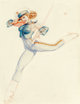 George Petty (American, 1894-1975) Marine Saluting, Ice Capades, 1944 Watercolor and pencil on board 21 x 15.5 in. (s