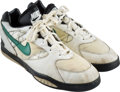 Football Collectibles:Others, 1992 Reggie White Game Worn Philadelphia Eagles Turf Shoes with Family Letter. ...