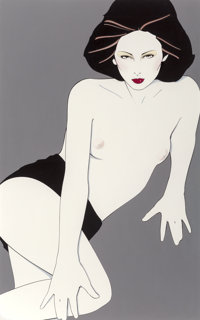 PATRICK NAGEL (American, 1945-1984) Playboy After Hours illustration, August 1980 Acrylic on board