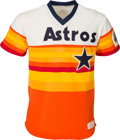 Baseball Collectibles:Uniforms, 1986 Nolan Ryan Game Worn Houston Astros Jersey, MEARS A10....