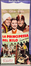 "Movie Posters:Adventure, Princess of the Nile (20th Century Fox, 1954). Italian Locandina(14.5"" X 30.5""). Adventure.. ..."