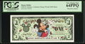 Miscellaneous:Other, Disney Dollar 2000 $1 Mickey PCGS Very Choice New 64PPQ.. ...