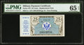 Military Payment Certificates:Series 472, Series 472 25¢ Replacement PMG Gem Uncirculated 65 EPQ.. ...