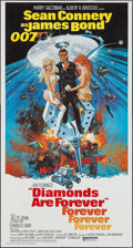 "Movie Posters:James Bond, Diamonds are Forever (United Artists, 1971). Three Sheet (41"" X 77""). James Bond.. ..."