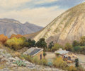 Paintings, Robert William Wood (American, 1889-1979). Through the Pass West Texas, 1937. Oil on canvas. 20 x 24 inches (50.8 x 61.0...