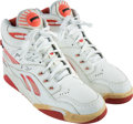 Basketball Collectibles:Others, Circa 1992 Dominique Wilkins Game Worn & Signed Sneakers.. ...