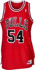 Basketball Collectibles:Uniforms, 1989-90 Horace Grant Signed Game Worn Chicago Bulls Jersey....