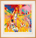 "Basketball Collectibles:Others, 1976 ""Olympic Basketball"" Original Serigraph Signed by LeRoy Neiman(300/300)...."