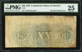 Confederate Notes:1863 Issues, T58 $20 1863 PF-UNL.. ...