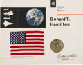Explorers:Space Exploration, Apollo-Soyuz Test Project Flown American Flag on PresentationCertificate Awarded to NASA Aerospace Engineer Donald T. Hamilto...