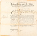 Autographs:Statesmen, John Hancock Military Appointment Signed as Governor ofMassachusetts....