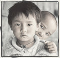 Photographs:Gelatin Silver, Phil Borges (American, b. 1942). Dolkar and Tashi, Dharamsala, India, 1994. Gelatin silver, masked, bleached, and toned,...