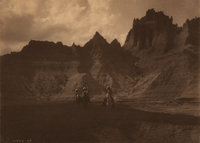 Edward Sheriff Curtis (American, 1868-1952) In the Badlands, 1905 Platinum 5-5/8 x 7-7/8 inches (