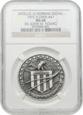 Explorers:Space Exploration, Apollo 16 Flown MS68 NGC Silver Robbins Medallion, Serial Number 47, Originally from the Personal Collection of Mission Comman...