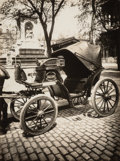 Photographs:20th Century, Eugène Atget (French, 1857-1927). Horse-drawn Taxi, 1910.Gelatin silver, printed later by Berenice Abbott. 9 x 6-1/2 in...