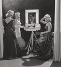 Photographs:Gelatin Silver, Frank Worth (American, 1923-2000). Lauren Bacall, Betty Grable, and Marilyn Monroe on the set of 'How to Marry a Millionai...