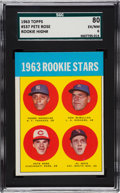 Baseball Cards:Singles (1960-1969), 1963 Topps Pete Rose - 1963 Rookie Stars #537 SGC 80 EX/NM 6....