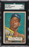 Baseball Cards:Singles (1950-1959), 1952 Topps Mickey Mantle #311 SGC 35 Good+ 2.5....
