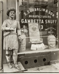 Photographs, Berenice Abbott (American, 1898-1991). Snuff Shop, 113 Division Street at Orchard Street, January 26, 1938. Gelatin silv...