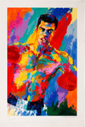 Boxing Collectibles:Autographs, 1990's Muhammad Ali Serigraph by LeRoy Neiman, Signed by Both. ...