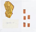 Explorers:Space Exploration, Apollo 14 Flown Kapton Foil and Ablative Plugs (Five) from theEstate of NASA Engineer Donald T. Hamilton. ... (Total: 2 Items)