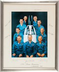 Explorers:Space Exploration, NASA Astronaut Group Two: Large Color Photo Signed on the Mat by All, Originally from the Personal Collection of Astronaut Ed ...