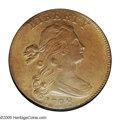 "1798 1C Second Hair Style MS62 Brown NGC. S-167, R.1. One of the three ""whisker"" varieties of 1798, the S-167..."