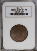 Large Cents: , 1804 1C Restrike. MS64 Red and Brown NGC. Struck from the usual late die state, with extensive die rust on Liberty and in t...
