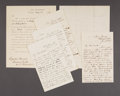 Military & Patriotic:Civil War, EDMUND KIRBY- FIVE LETTERS AND HIS APPOINTMENT TO BRIGADIER GENERAL CIRCA 1860S....