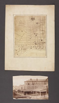 Military & Patriotic:Civil War, MAP OF HOSPITALS OF NASHVILLE, TENNESSEE CA 1860S....
