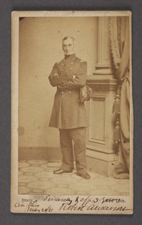 SIGNED ROBERT ANDERSON CDV AND LIMITED EDITION FORT SUMTER BOOK