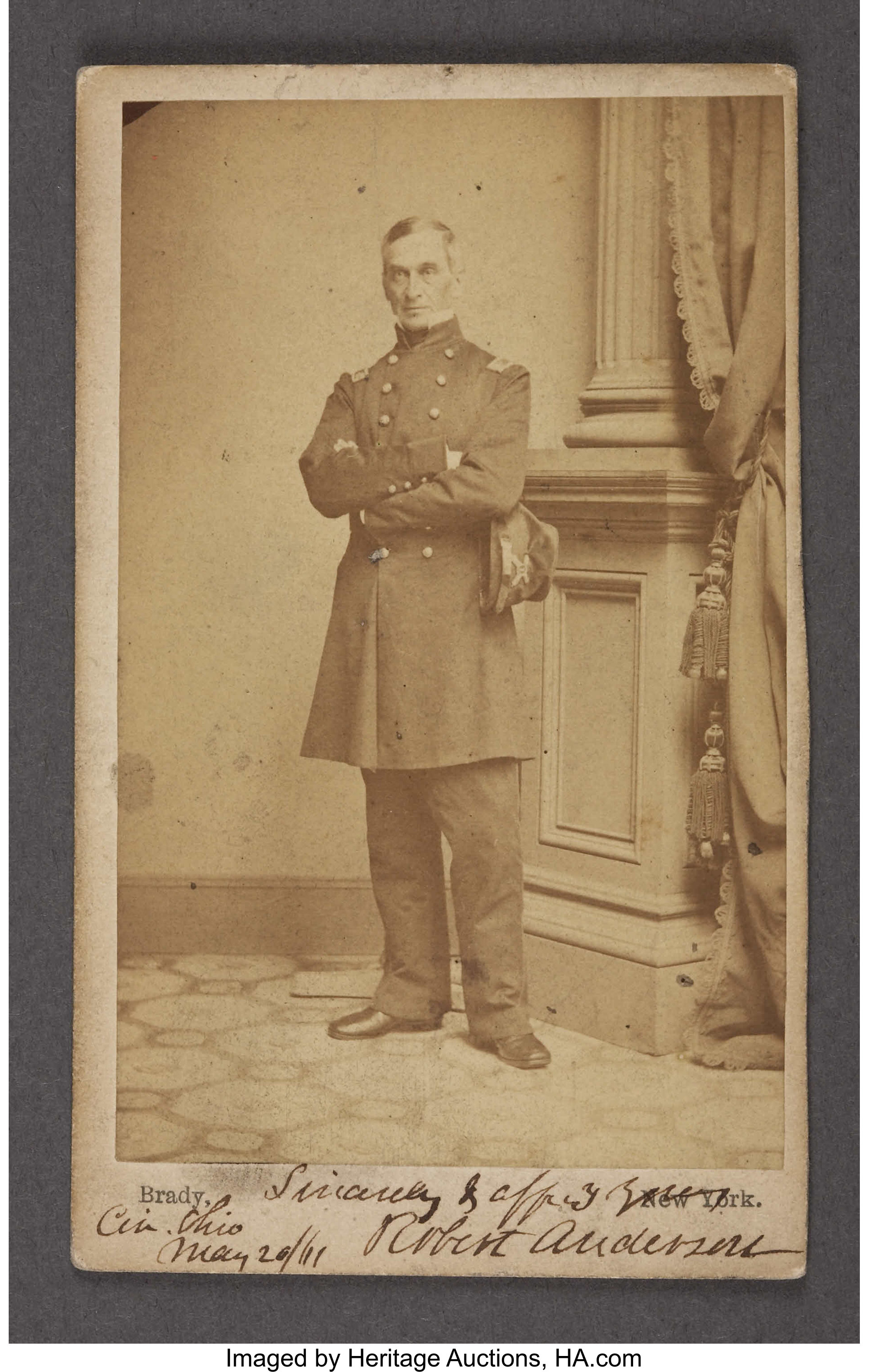 SIGNED ROBERT ANDERSON CDV AND LIMITED EDITION FORT SUMTER