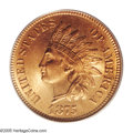 Indian Cents: , 1875 1C MS66 Red PCGS. Ex: Ally Collection. This is the finest 1875 Indian Cent that we have handled in recent memory, and ...