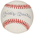 Baseball Collectibles:Balls, Mickey Mantle Single Signed Baseball. ...