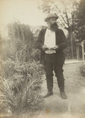 Photographs, Lilla Cabot Perry (American, 1848-1933). Claude Monet at Giverny (four photographs), circa 1899-1901. Gelatin silver. th... (Total: 4 Items)