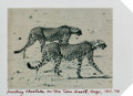 Photographs:20th Century, Peter Beard (American, b. 1938). Hunting Cheetahs on the TaruDesert, Kenya, 1960. Polaroid. 3-1/2 x 4-1/2 inches (8.9 x...